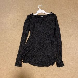 Textured Charcoal Tunic Top